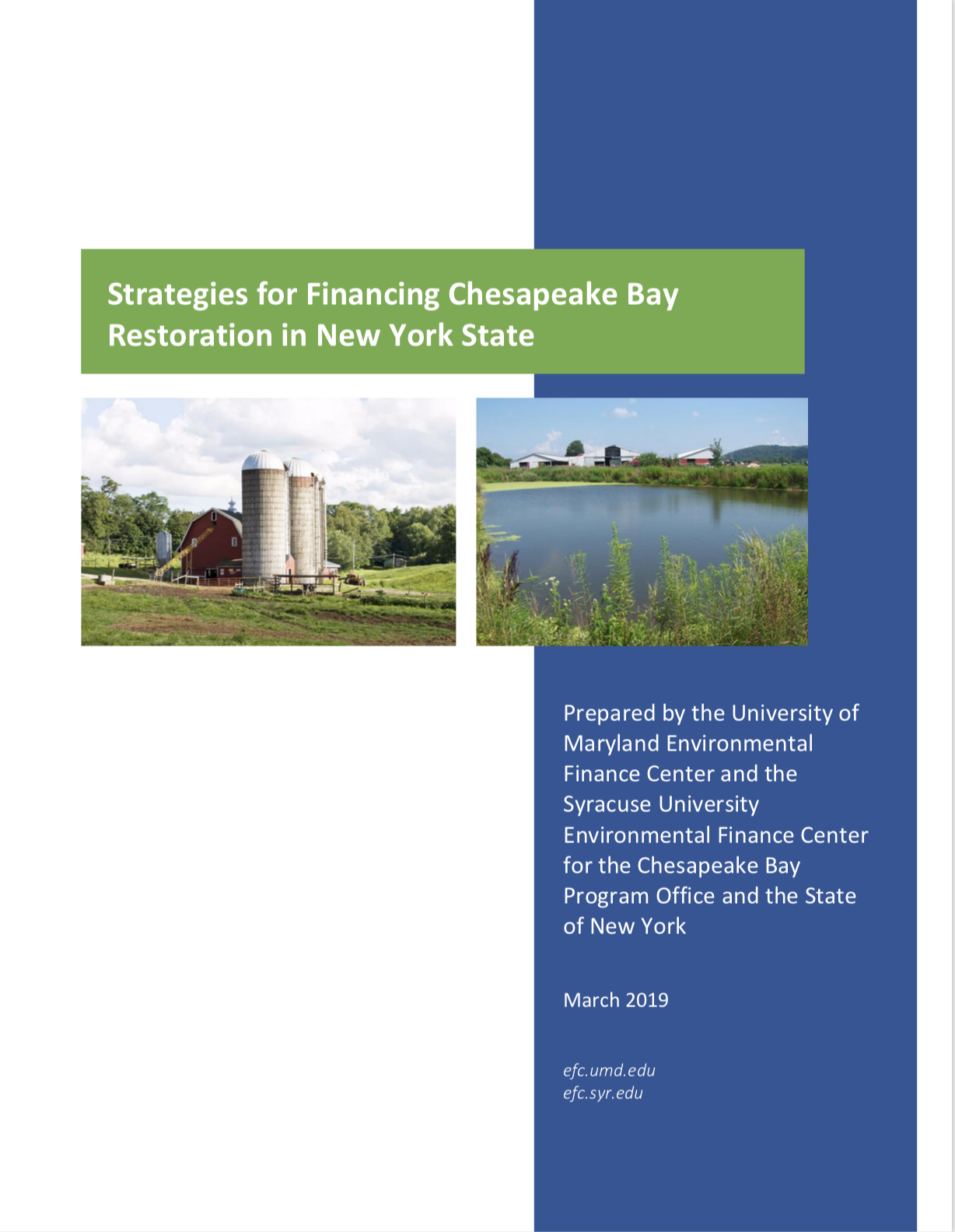 Strategies for Financing Bay Restoration in New York